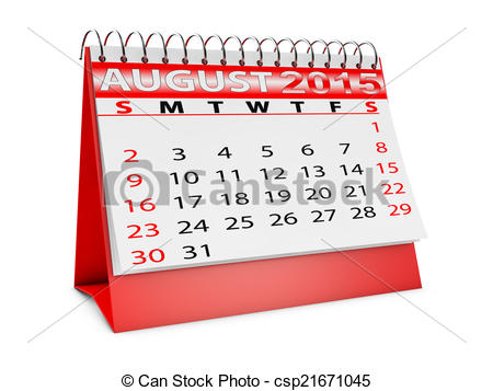 August 2015 calendar clipart. Drawing of for desktop