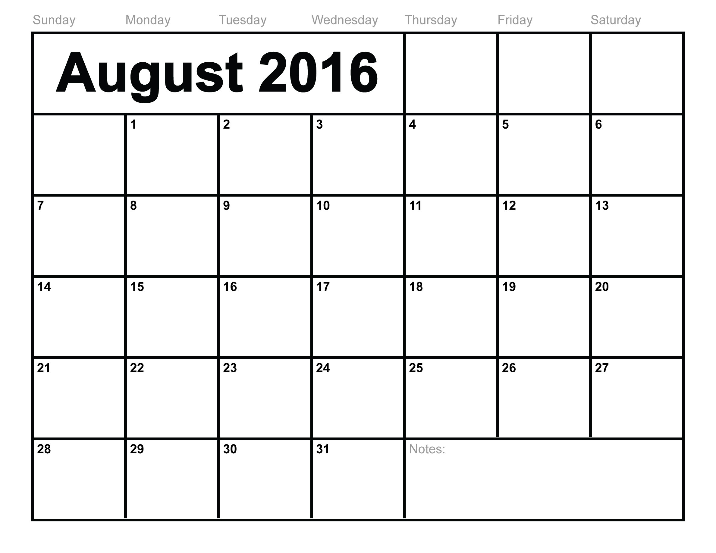 August 2016 calendar clipart royalty free library July 2016 calendar sporty clipart - ClipartFest royalty free library