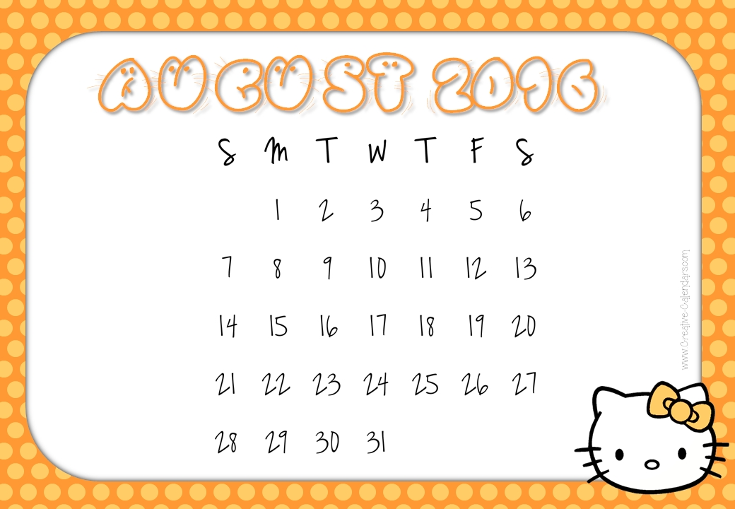 August 2016 calendar clipart png freeuse download August cute clipart - ClipartFest png freeuse download