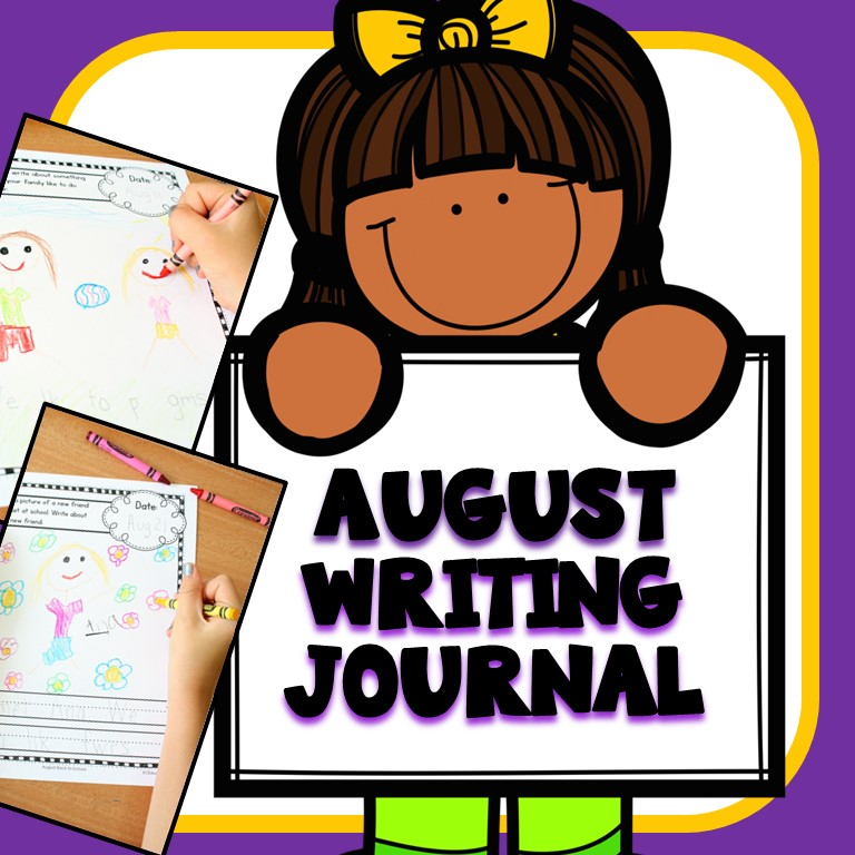 August 2018 preschool clipart freeuse stock August Writing Journal Prompts freeuse stock