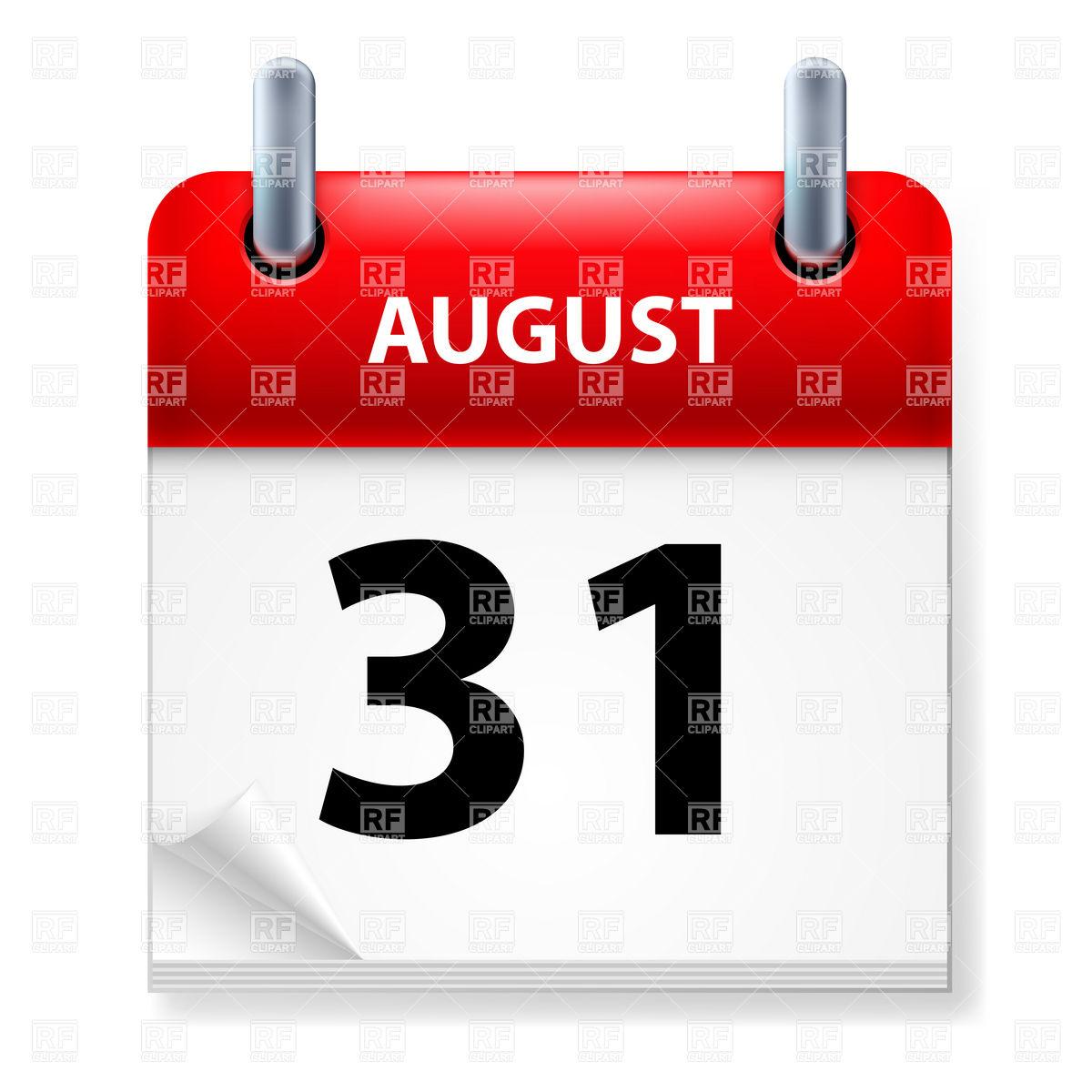 August 31st calendar clipart. St clipartfest icon