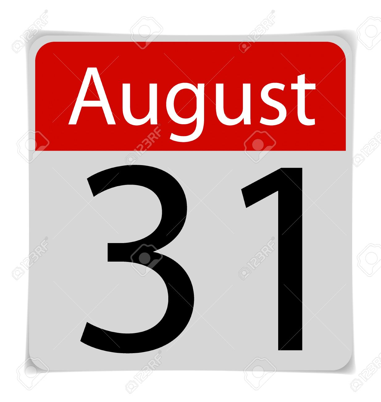 Simple date th royalty. August 31st calendar clipart