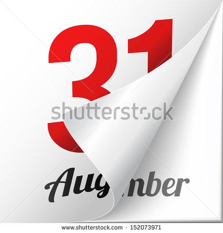 Turning stock photos royalty. August 31st calendar clipart