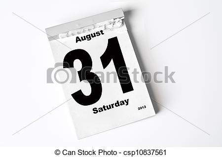 August 31st calendar clipart.  clip art free