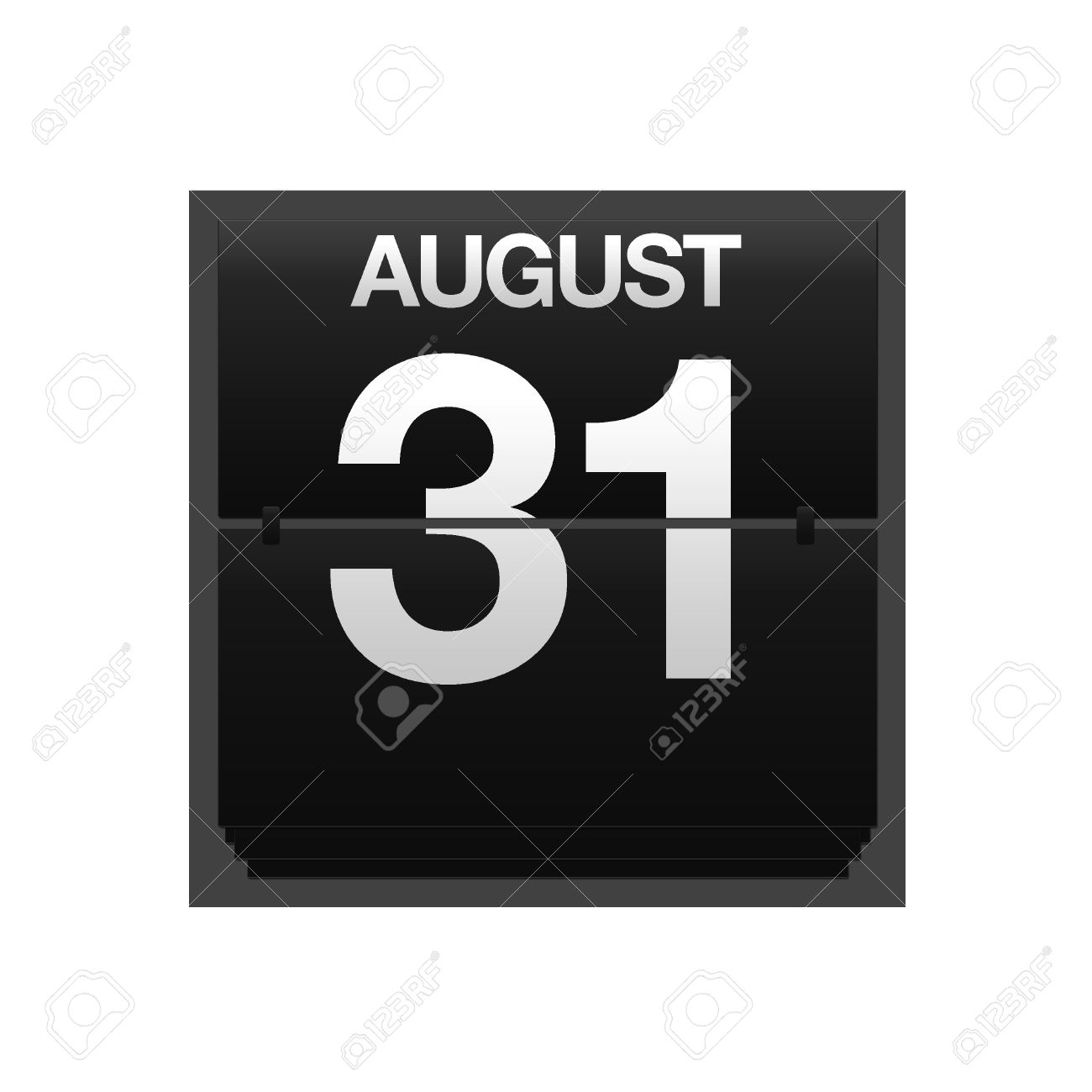 August 31st calendar clipart. Illustration with a counter