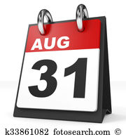 St clipartninja. August 31st calendar clipart