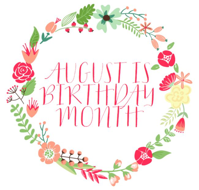 August birthday month clipart svg black and white August is Birthday Month svg black and white