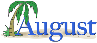Kid best. August calendar clipart