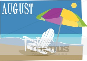Menu graphics. August calendar clipart