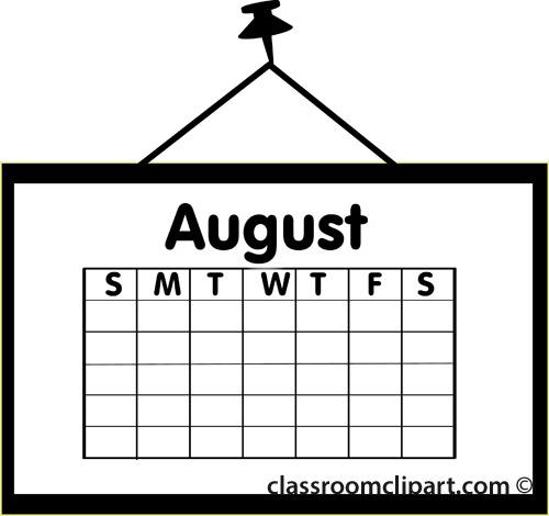 August calendar clipart clipart free stock August Calendar Clipart - Clipart Kid clipart free stock