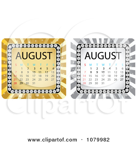 August calendar clipart free clip royalty free Royalty-Free (RF) August Calendar Clipart, Illustrations, Vector ... clip royalty free