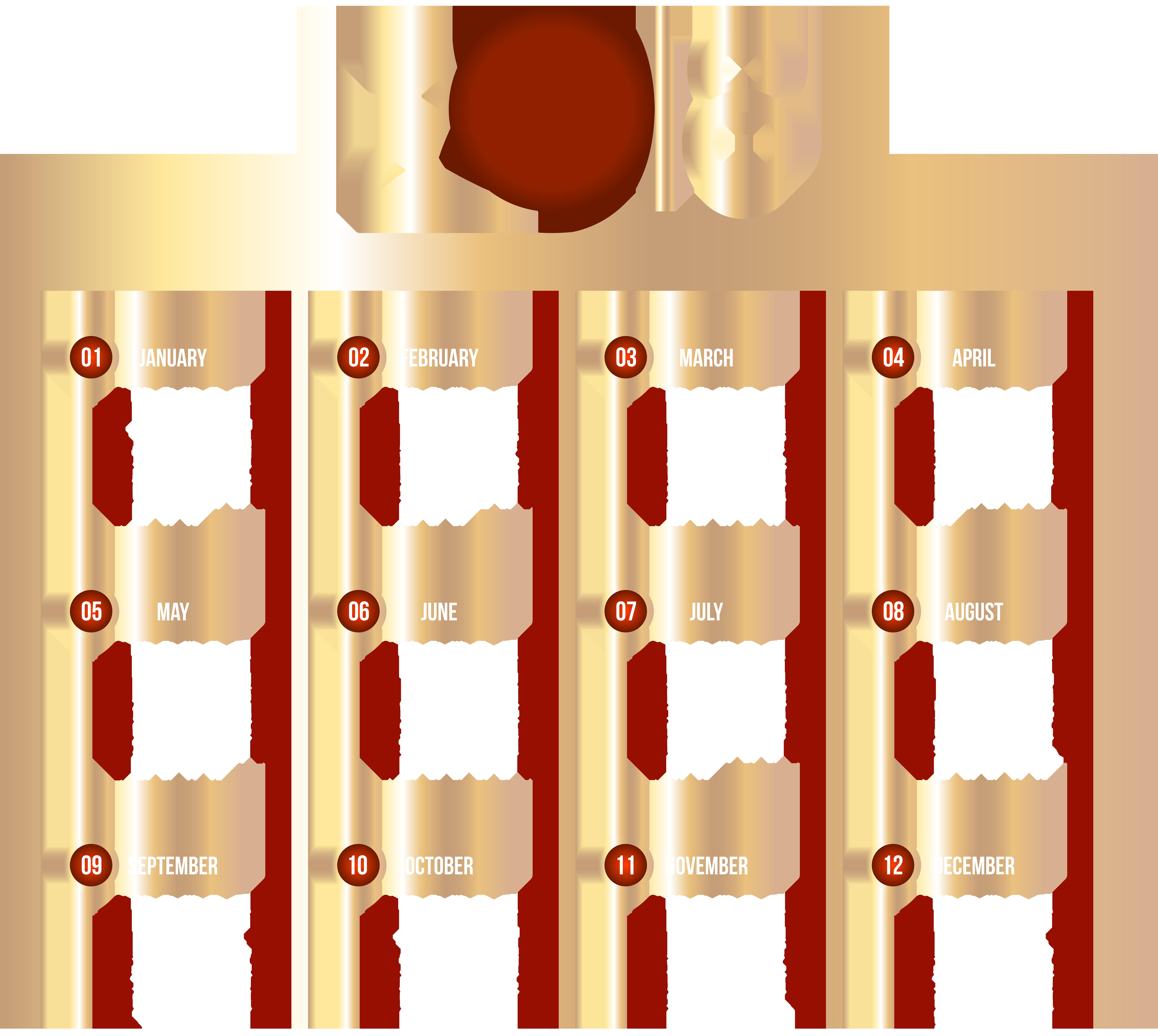 Clipart for august calendar vector royalty free download 2018 Calendar Transparent Clip Art Image | Gallery Yopriceville ... vector royalty free download