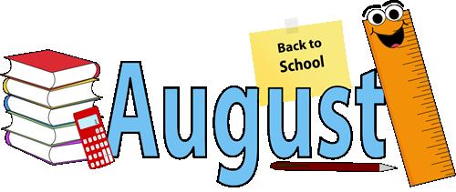 Kid clip art cliparts. August calendar clipart free