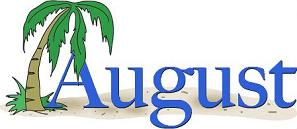 August calendar clipart free. Clipartfest and palm tree