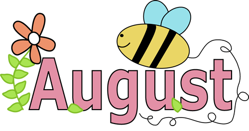 best images about. August calendar clipart ideas