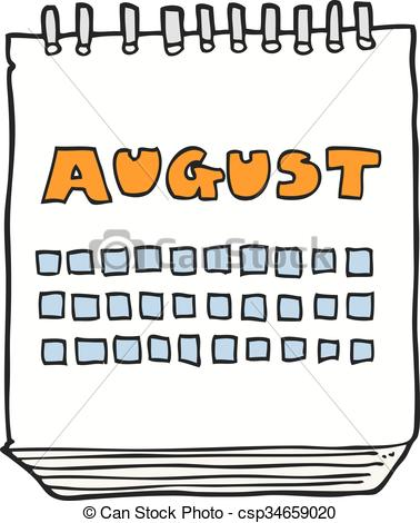 August calendar months clipart graphic royalty free library August month calendar clipart - ClipartFox graphic royalty free library
