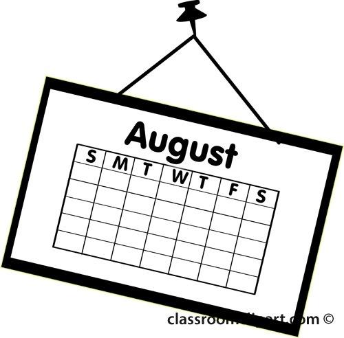 August clipart black and white svg freeuse stock Calendar Calendar August Outline Classroom Clipart Clipartbold ... svg freeuse stock