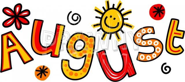 August clipart calendar. Clip art images pictures