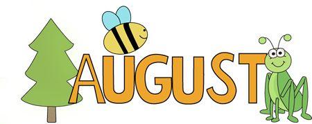 August clipart calendar. Month clipartfest nature clip
