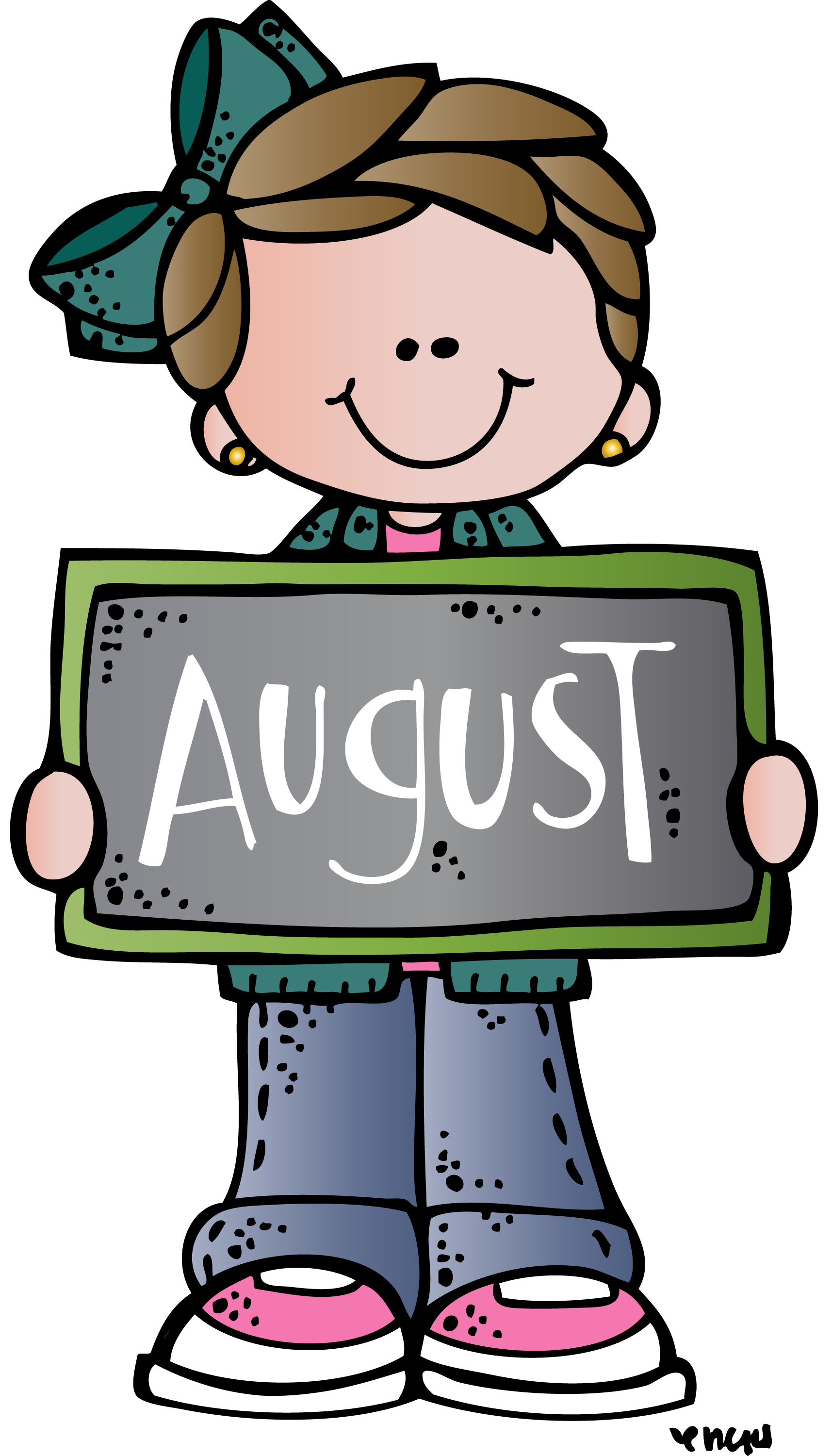 September back to school clipart graphic royalty free download august mel | Melonheadz | Pinterest | Clip art, School and Teacher graphic royalty free download