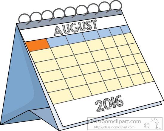 Clipartfest deskcalendaraugustjpg. August clipart calendar