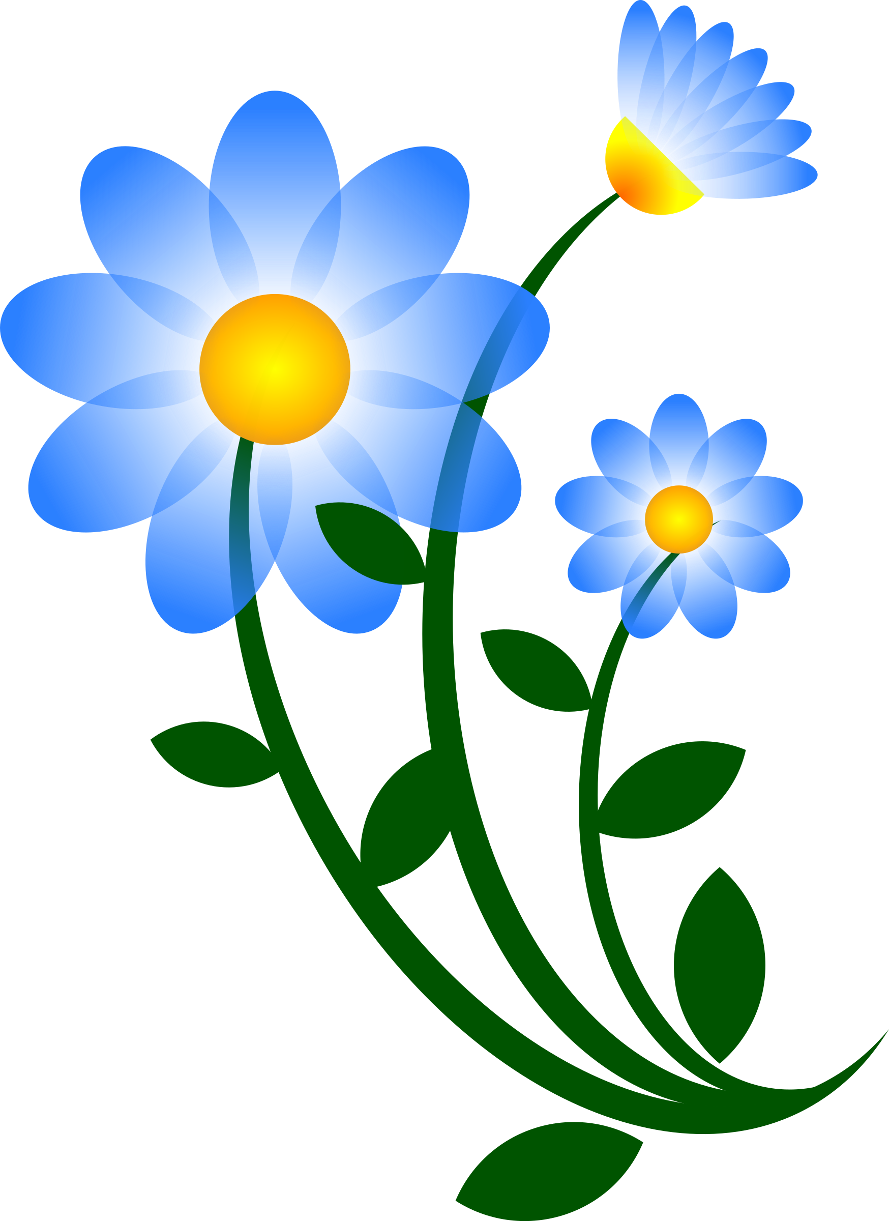 August flower clipart vector free stock Clipart - Blue Flower Motif vector free stock