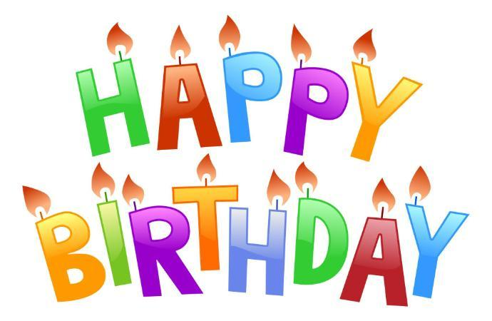 Happy birthday april clipart image free Birthdays for August 7th image free