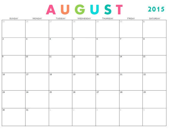 August month calendar clipart graphic free library 1000+ ideas about Monthly Calendar 2015 on Pinterest | Free ... graphic free library