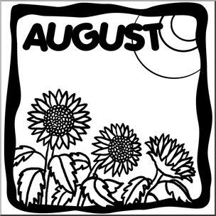 August month calendar clipart picture black and white August clipart by month image - Clipartix picture black and white