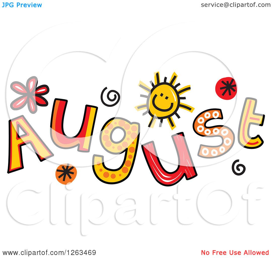 Calendar months clipart clipartfest. August month clip art