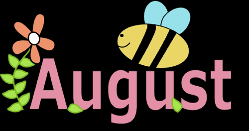 Of clipart free clipartsco. August month clip art