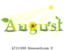 August month clip art. And stock illustrations