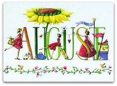 Free of summer image. August month clip art