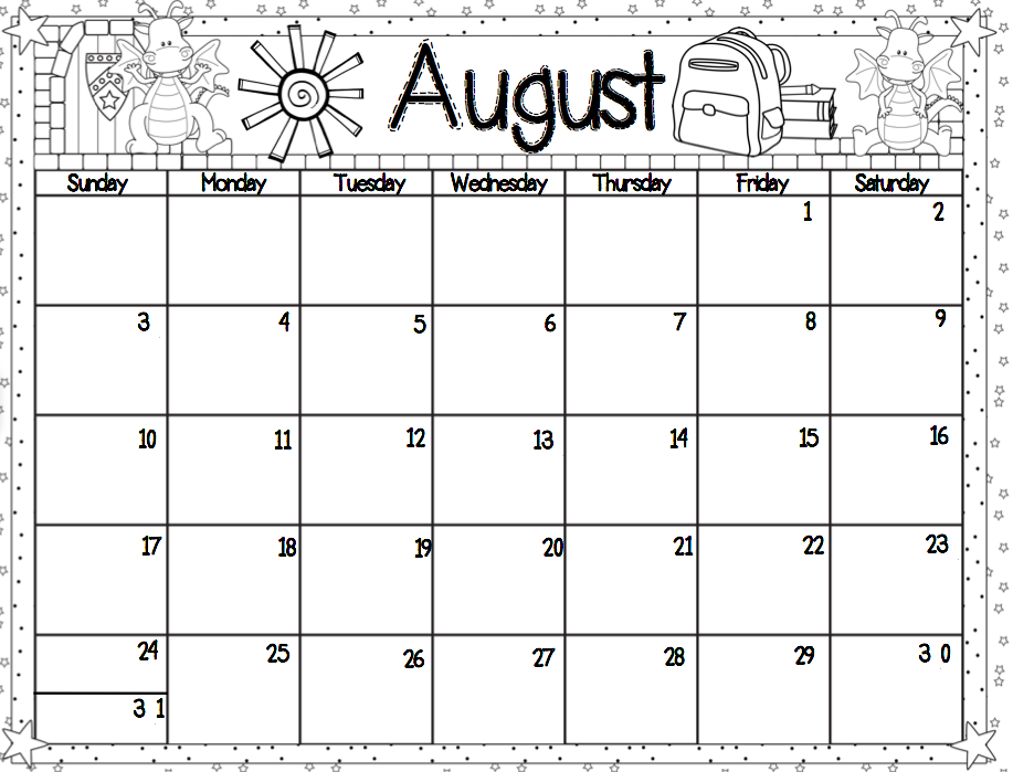 August preschool calendar clipart jpg royalty free download August preschool calendar clipart - ClipartFest jpg royalty free download