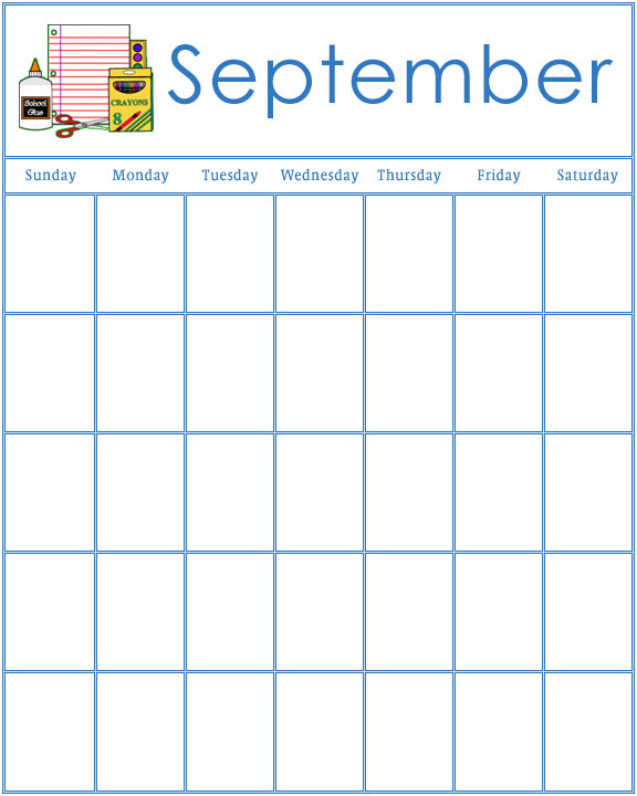 August preschool calendar clipart free Preschool Calendars free
