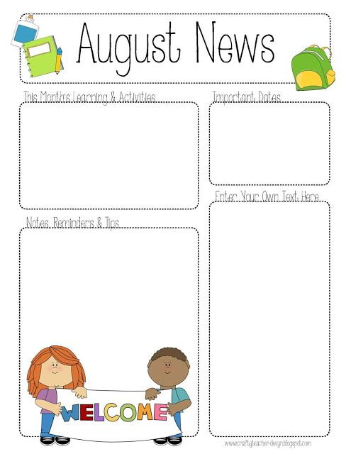 August preschool calendar clipart free download 17 Best ideas about Preschool Newsletter on Pinterest | Classroom ... free download