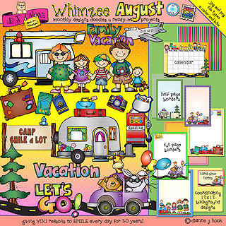 August summer vacation clipart png black and white stock Travel and Vacation Clip Art Around the World - DJ Inkers png black and white stock