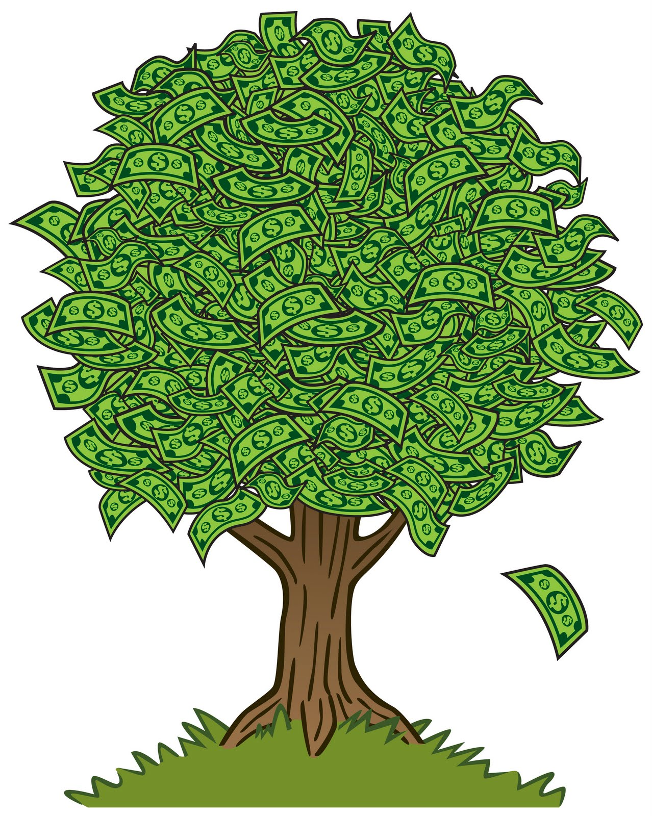 August tree clipart svg black and white library IPrintfromHome.com: Money Tree #181509 - Clipartimage.com svg black and white library