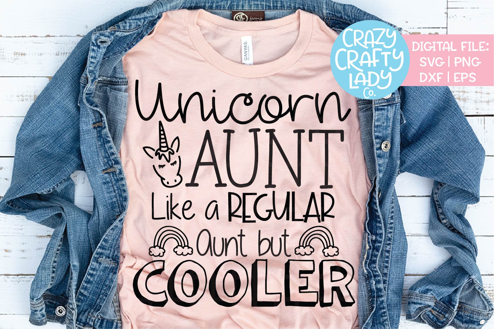Aunt in jeans clipart clip art freeuse library Unicorn Aunt SVG DXF EPS PNG Cut File clip art freeuse library