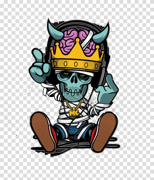 Aunt in jeans clipart vector free Skeleton wearing jeans and crown illustration, Hip hop Cartoon ... vector free