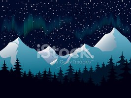 Aurora boreal clipart clip freeuse library Northern Lights stock vectors - Clipart.me clip freeuse library