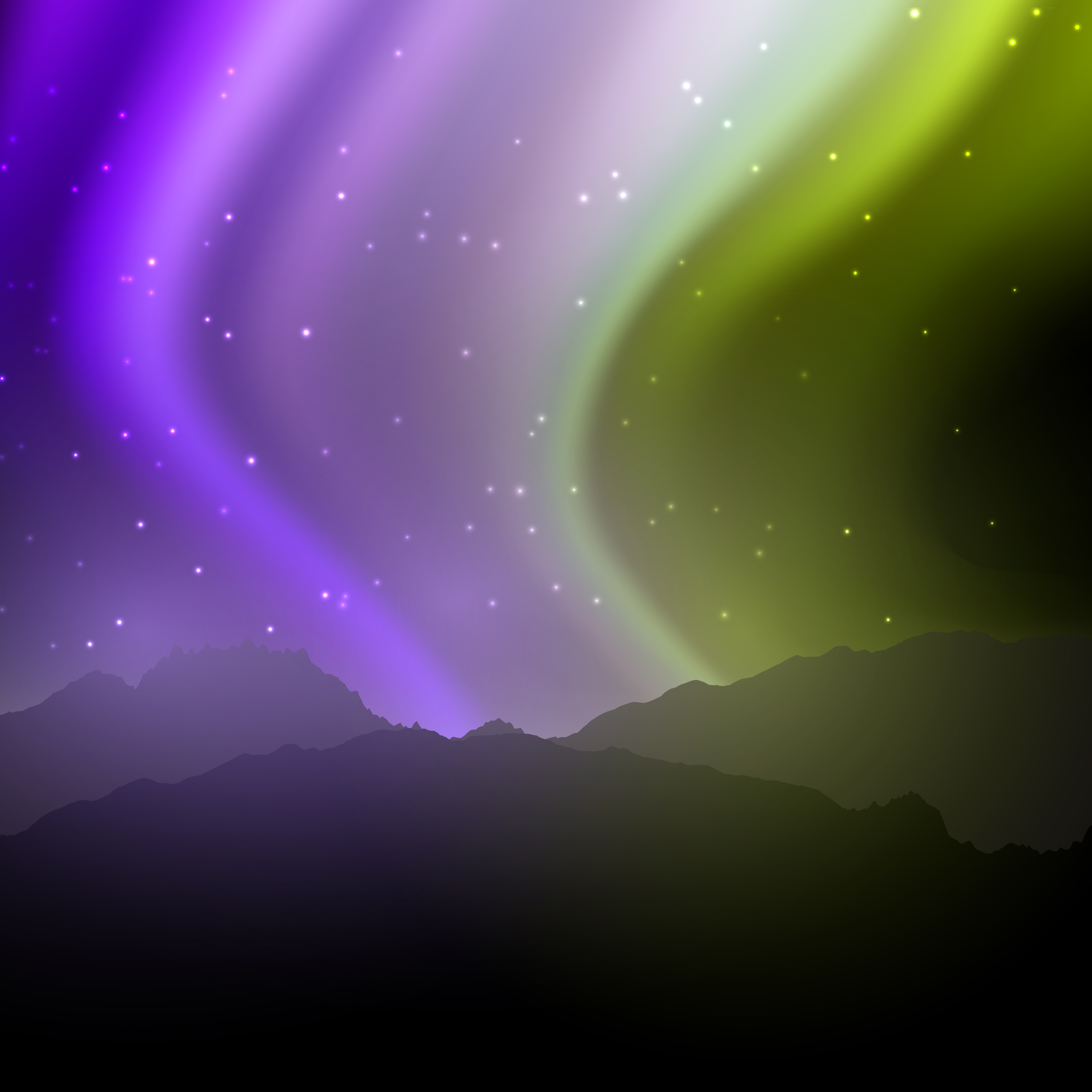 Aurora boreal clipart transparent download Aurora Borealis Clipart night sky 13 - 5000 X 5000 Free Clip Art ... transparent download