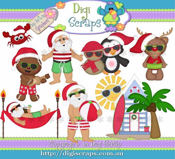 Clipart australian christmas vector library library Free Summer Christmas Cliparts, Download Free Clip Art, Free Clip ... vector library library