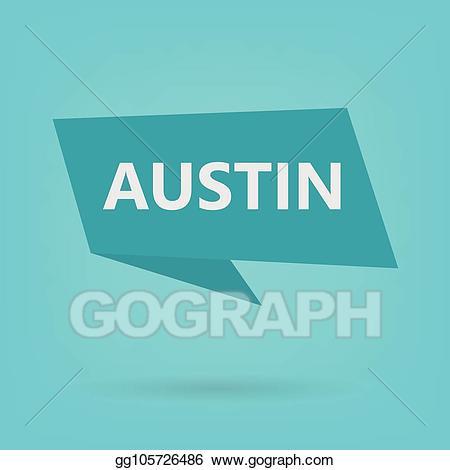 Austin clipart clip art free library Vector Clipart - Austin on sticker. Vector Illustration gg105726486 ... clip art free library