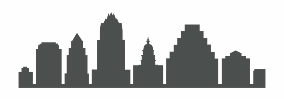 Austin skyline clipart free vector royalty free library Austin\'s Skyline - Silhouette Free PNG Images & Clipart Download ... vector royalty free library
