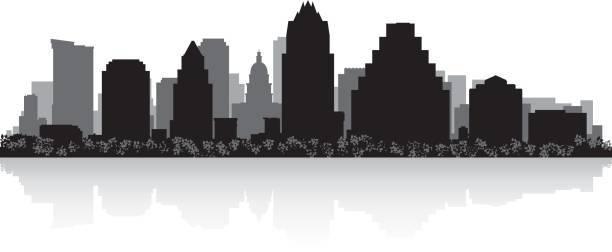 Clipart vs texas city vector library Austin Texas city skyline vector silhouette illustration » Clipart ... vector library