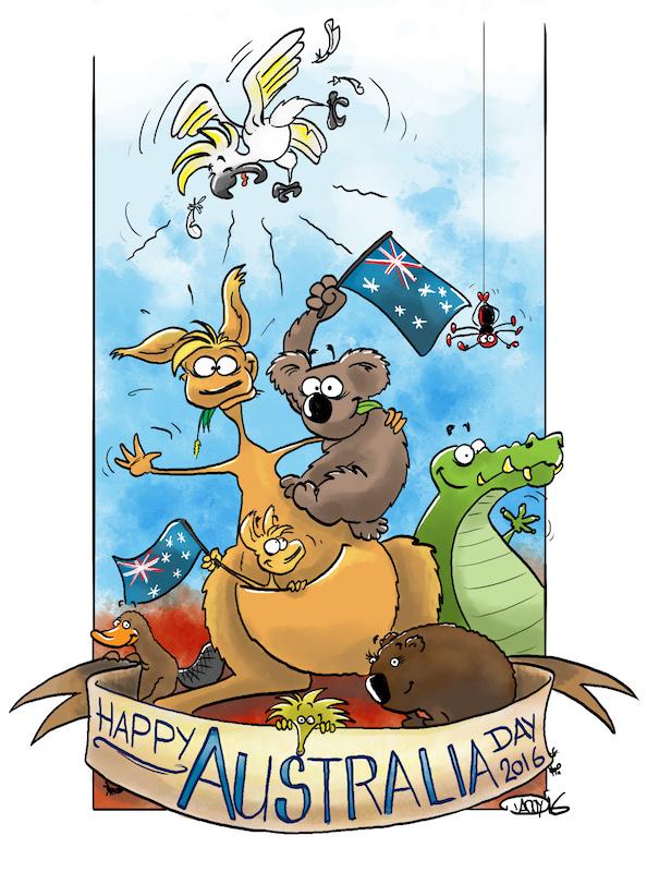 Australia day 2016 clipart