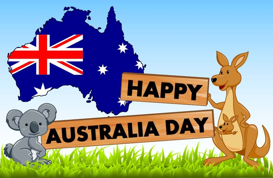 Australia day images clipart vector freeuse library Happy Australia Day Clipart vector freeuse library