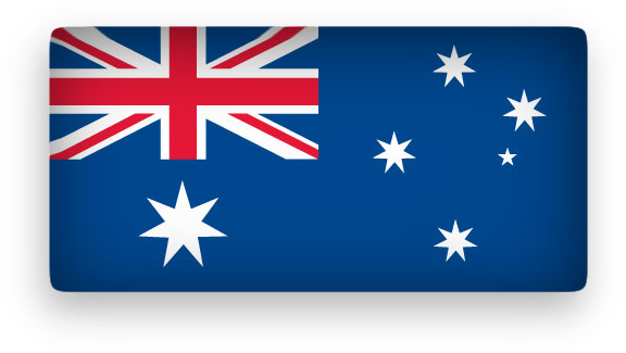 Australian flag waving clipart