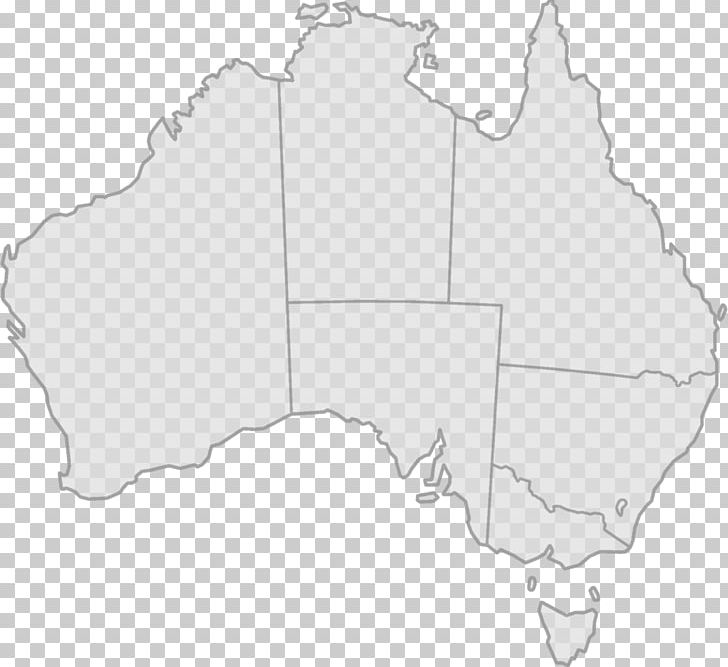 Australia map with states clipart